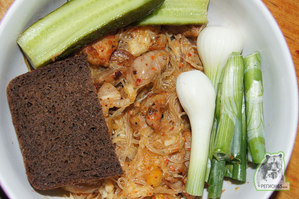 Рецепт AfterNature с мясом и фунчозой по-сахалински