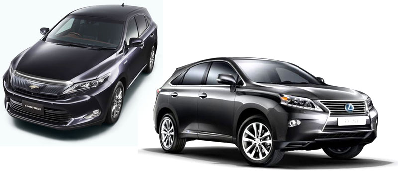 Toyota Harrier 2014 и Lexus RX450 2014