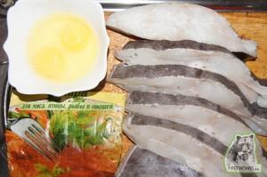 Кулинарный рецепт палтус жареный в панировочных сухарях