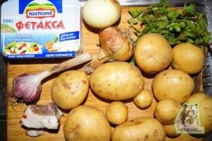 Кулинарный рецепт молодая картошка с сыром и зеленью