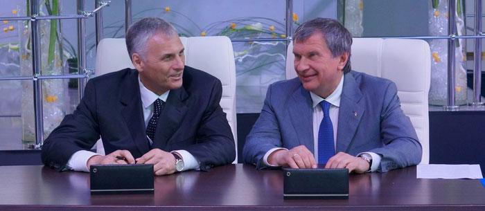 Встреча Александра Хорошавина и Игоря Сечина в июне 2013 года. Фото ДВ-Росс.