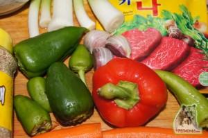 Кулинарный рецепт Крахмальная лапша по-корейски
