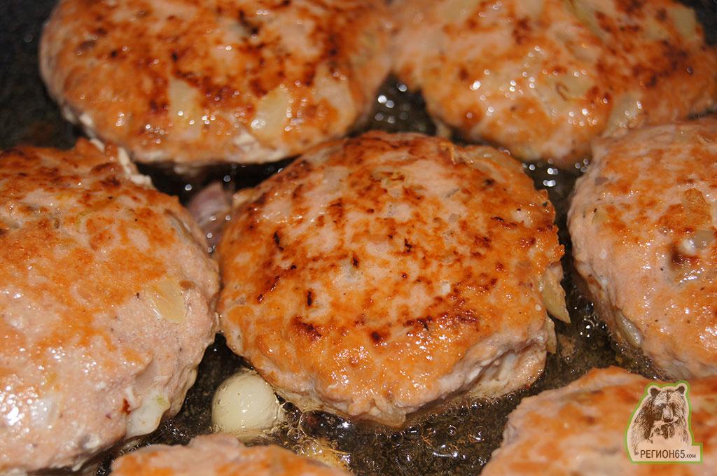 Кулинарный рецепт ароматные котлеты из горбушы из рыбного фарша