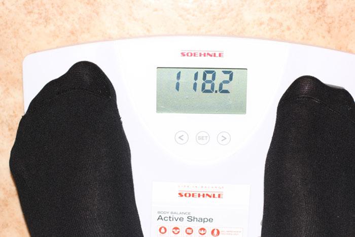 Результат первой недели похудения