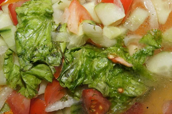 Восьмой день похудения салат