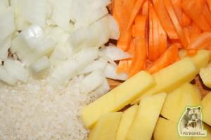Кулинарный рецепт суп-пюре с курицей в сухарях
