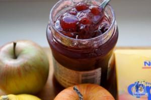 Кулинарный рецепт печеные яблоки с вареньем, лимоном и мятой
