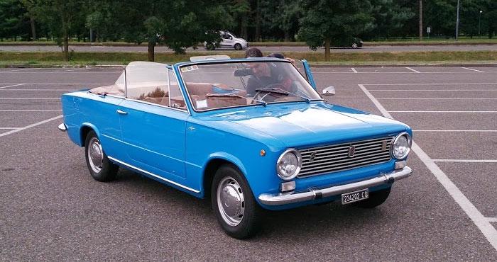 Fiat 124 кабриолет прообраз ВАЗ 2101 Копейка