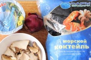 Кулинарный рецепт морской коктейль с грибами