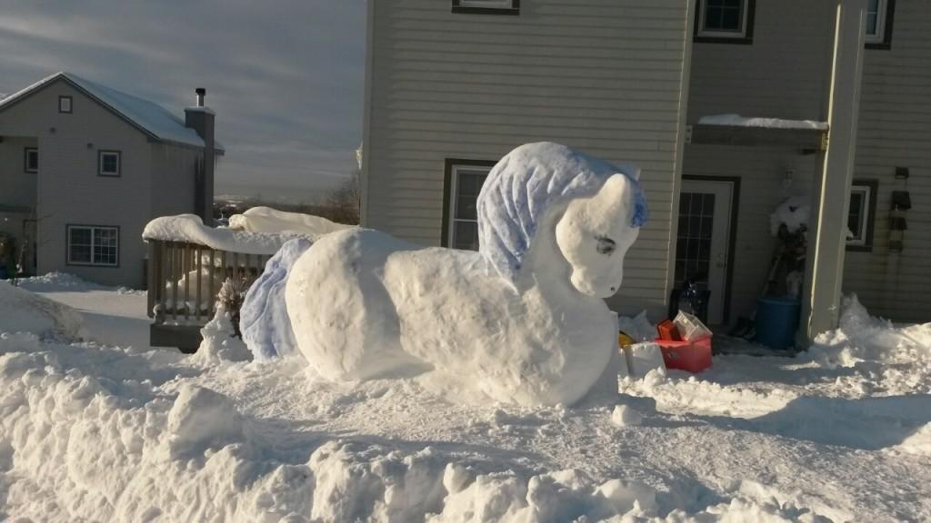 Снежный конь без пальто