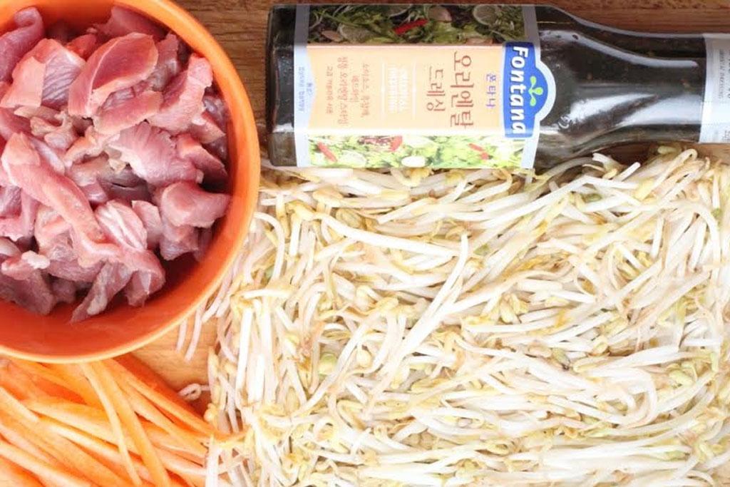 Рецепт как приготовить теплый салат из маша с индейкой для похудения