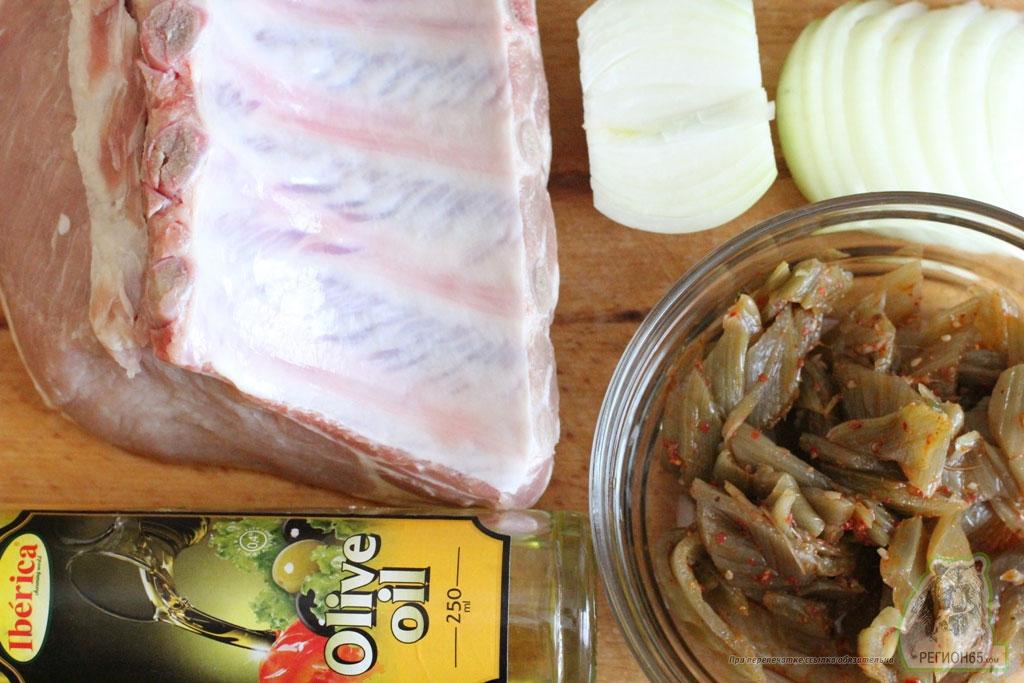 Кулинарный рецепт как быстро вкусно приготовить мясо на кости запечь с острым лопухом