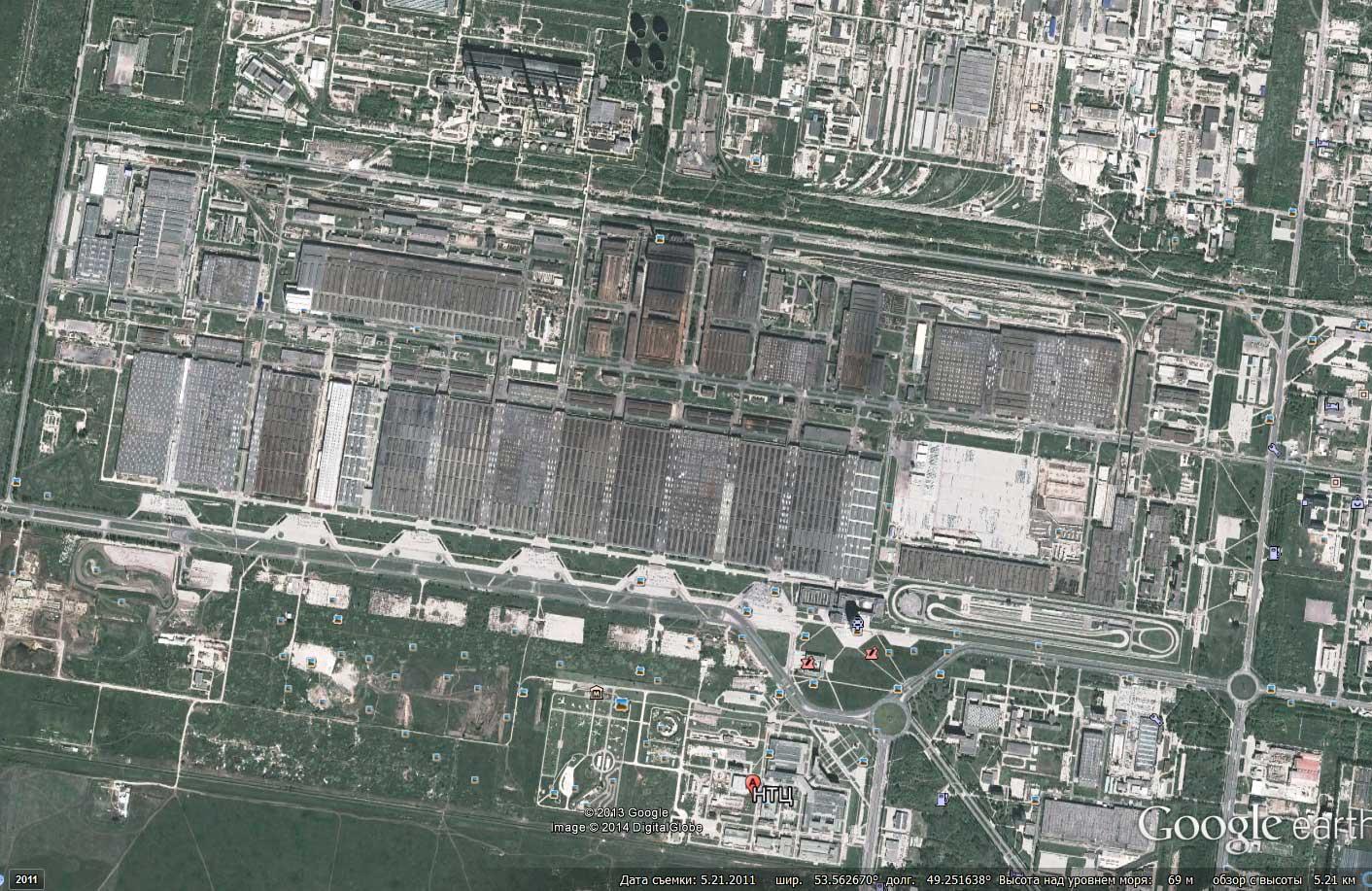 Завод Автоваз из космоса