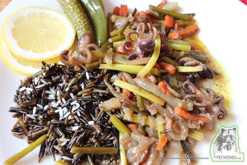 Кулинарный рецепт с фотографиями как приготовить быстро вкусно осьминоги с чесночными стрелками